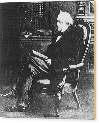 Charles Lyell, English Geologist Wood Print by Science Source