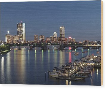 Charles River Yacht Club Wood Print by Juergen Roth