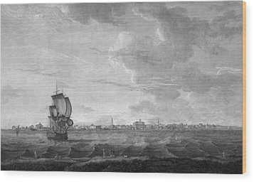 Charleston. A View Of Charles-town Wood Print by Everett