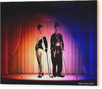 Charlie And Marilyn Wood Print by Steve K