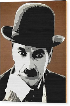 Charlie Chaplin Wood Print by Dan Carman