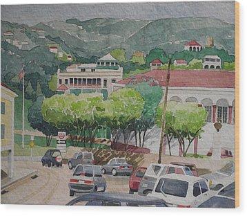 Charlotte Amalie Tolbad Gade Wood Print by Robert Rohrich