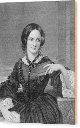 Charlotte Bronte 1816-1855, British Wood Print by Everett