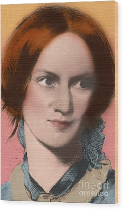 Charlotte Bronte, English Author Wood Print by Science Source