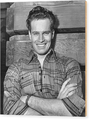Charlton Heston, Paramount Pictures Wood Print by Everett