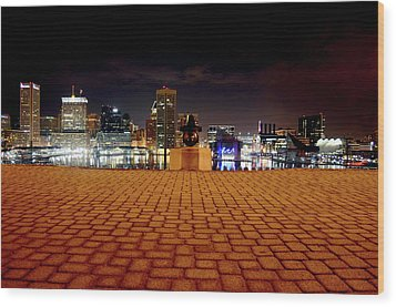 Charm City Skyline Wood Print