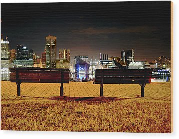 Charm City View Wood Print
