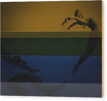 Chase Wood Print by Naxart Studio