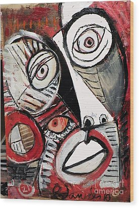 Chasing Picasso Wood Print by Robert Daniels