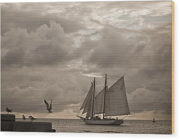 Chasing The Wind Wood Print