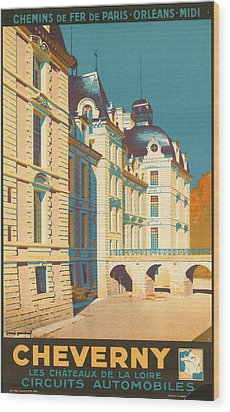 Chateau De Cheverny Wood Print by Georgia Fowler