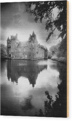 Chateau De Trecesson Wood Print by Simon Marsden