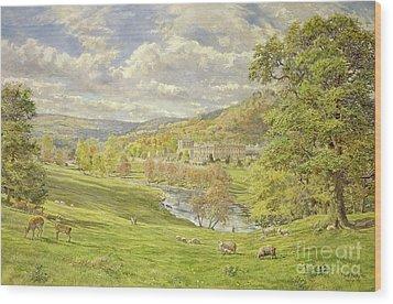 Chatsworth Wood Print by Tim Scott Bolton