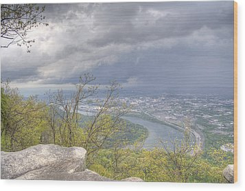 Chattanooga Valley Wood Print by David Troxel