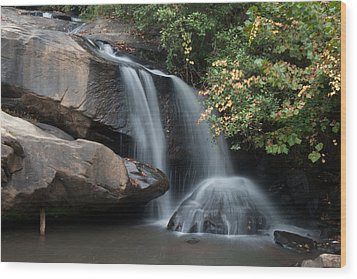 Wood Print featuring the photograph Chau-ram Falls by Lynne Jenkins