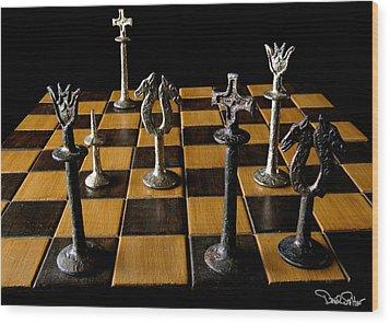 Checkmate Wood Print by David Salter