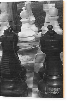 Checkmate Wood Print by Jennifer Sabir