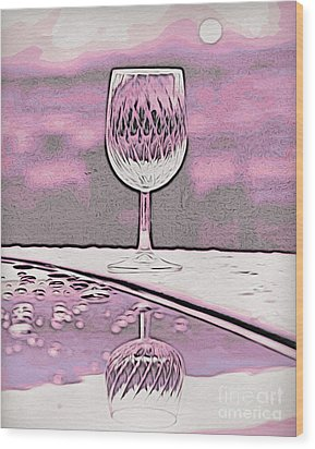 Cheers On Icy Snow Wood Print by Phyllis Kaltenbach