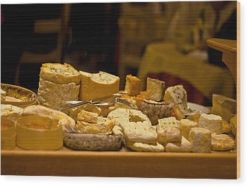Cheese Selection Wood Print by Georgia Fowler