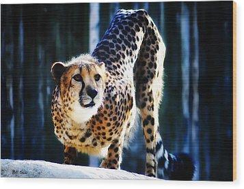 Cheeta Wood Print by Bill Cannon