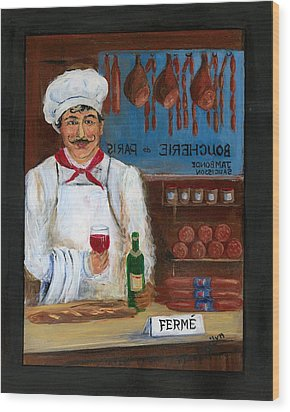 Chef At Days End Wood Print by Marilyn Dunlap