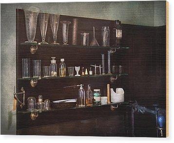 Chemist - The Scientist  Wood Print by Mike Savad