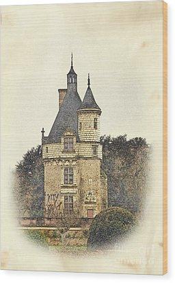 Chennonceau Castle Wood Print by Paul Topp