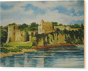 Chepstow Castle  Wales Wood Print by Andrew Read