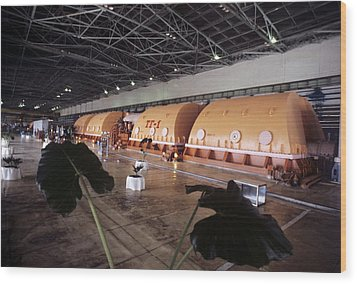Chernobyl Turbine Generators Wood Print by Ria Novosti