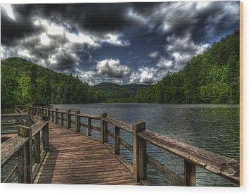 Cherokee Lake Wood Print by Greg and Chrystal Mimbs