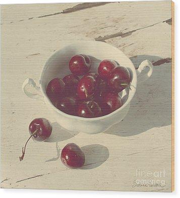 Cherries Still Life  Wood Print by Svetlana Novikova