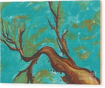Cherry Blossom Wood Print by Lindsay Mangham