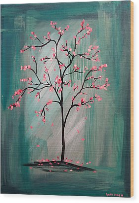 Cherry Blossom Wood Print by Lynsie Petig