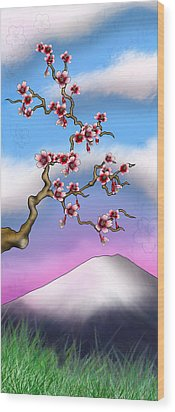 Cherry Blossoms Wood Print by Anthony Citro