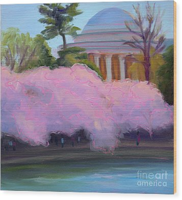 Cherry Blossoms In Afternoon Light Wood Print by Julie Hart