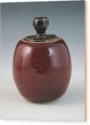 Cherry Jar Wood Print by Alejandro Sanchez