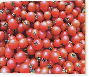 Cherry Tomatoes Wood Print by Junku
