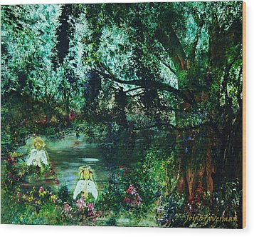 Cherub Lake Wood Print