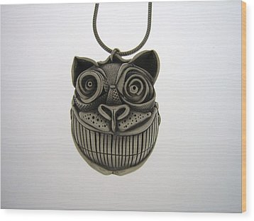 Cheshire Cat  Wood Print by Michael Marx