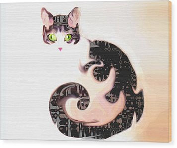 Cheshire Effect Wood Print by Ginny Schmidt