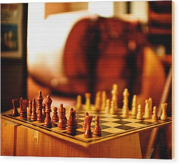 Chess Wood Print by Andre Faubert