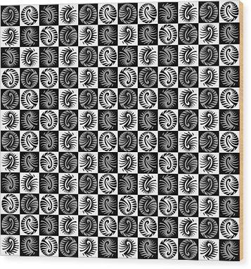 Chess Board Wood Print by Sumit Mehndiratta
