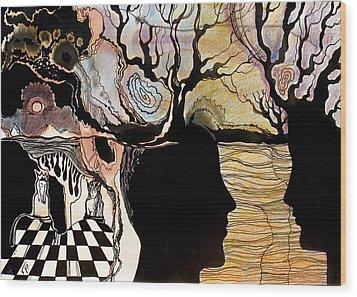 Chess Game Wood Print by Valentina Plishchina