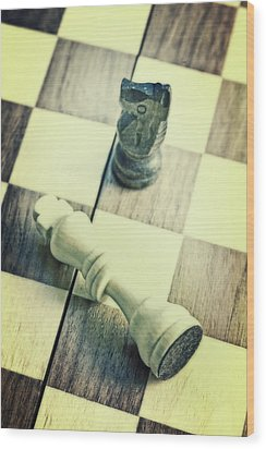 Chess Wood Print by Joana Kruse