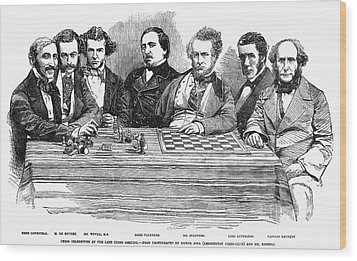 Chess Players, 1855 Wood Print by Granger