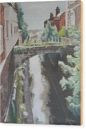 Chester Canal Wood Print by Veronica Coulston