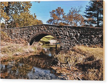 Chester County Bow Bridge Wood Print by Bill Cannon