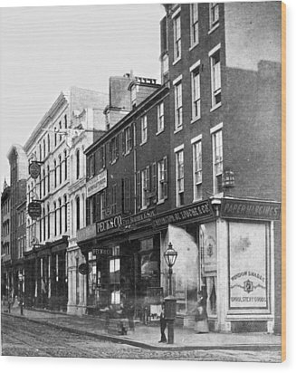 Chestnut Street - South Side Of Philadelphia - C 1870 Wood Print by International  Images