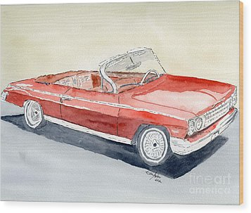 Chevrolet 62 Impala Wood Print by Eva Ason