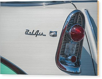 Chevrolet Belair Wood Print by Gary Rose